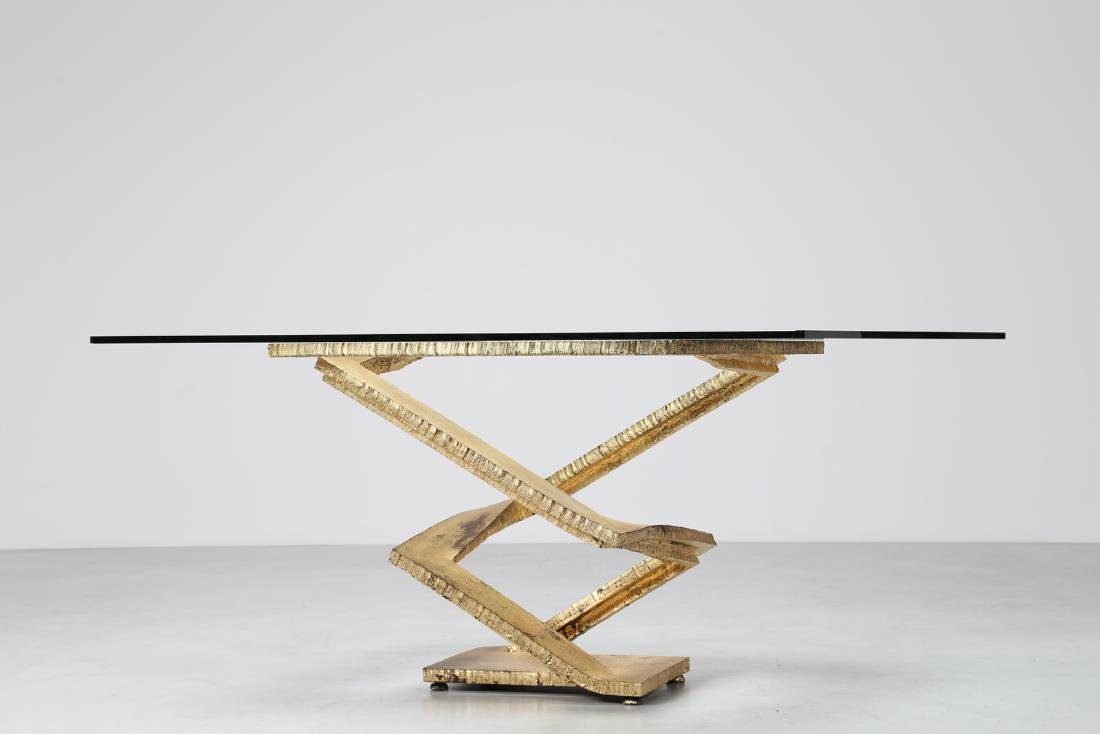 MAURICE  BARILONE Sculpture table consisting of a sheet - 3