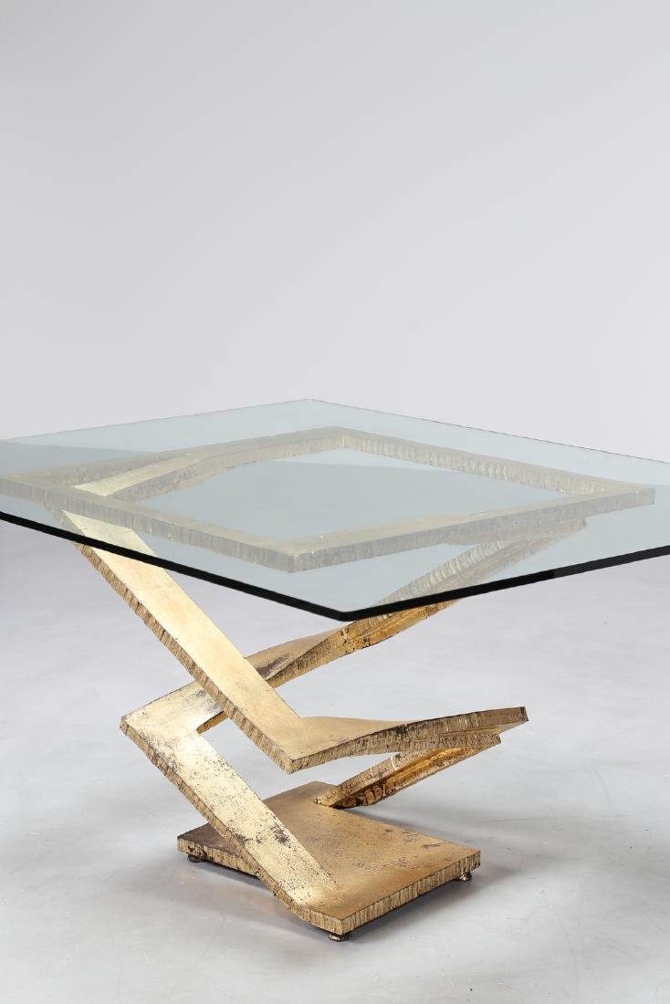 MAURICE  BARILONE Sculpture table consisting of a sheet - 4