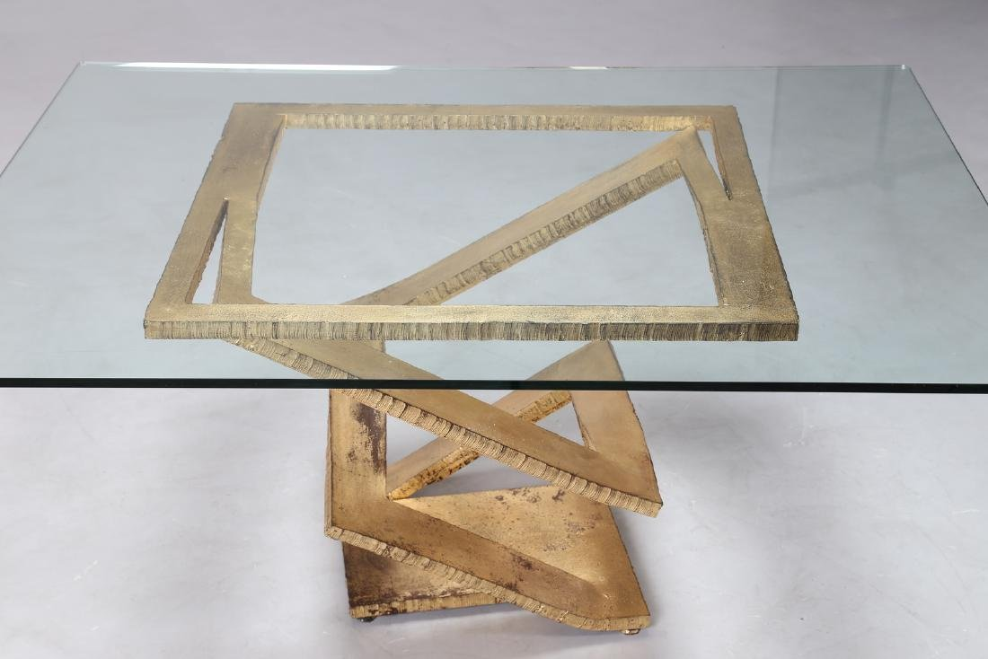 MAURICE  BARILONE Sculpture table consisting of a sheet - 5
