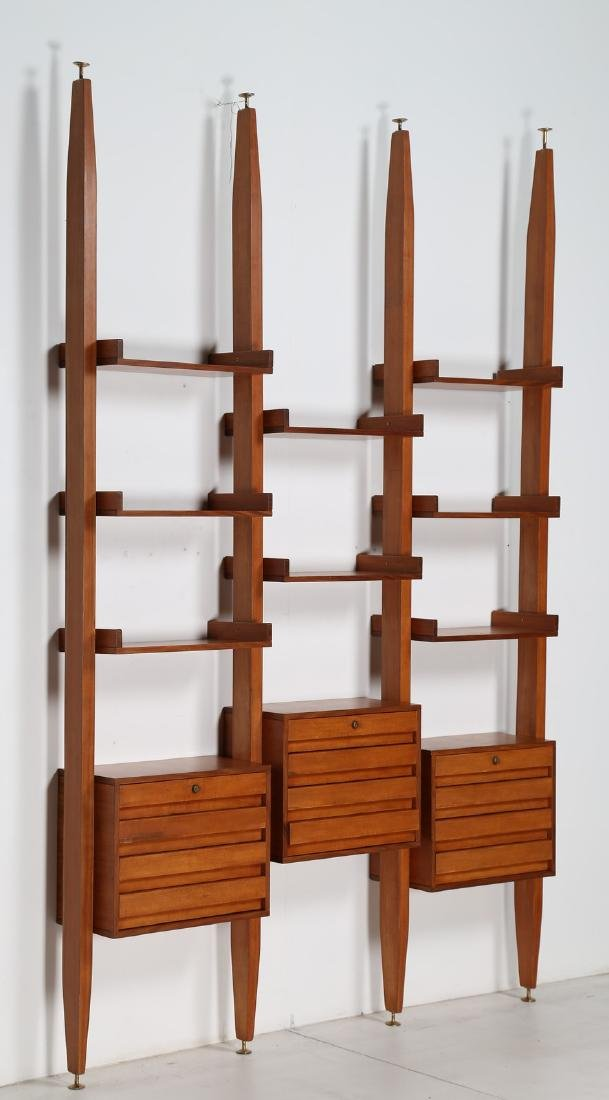 MANIFATTURA SVEDESE  Modular bookcase in teak with
