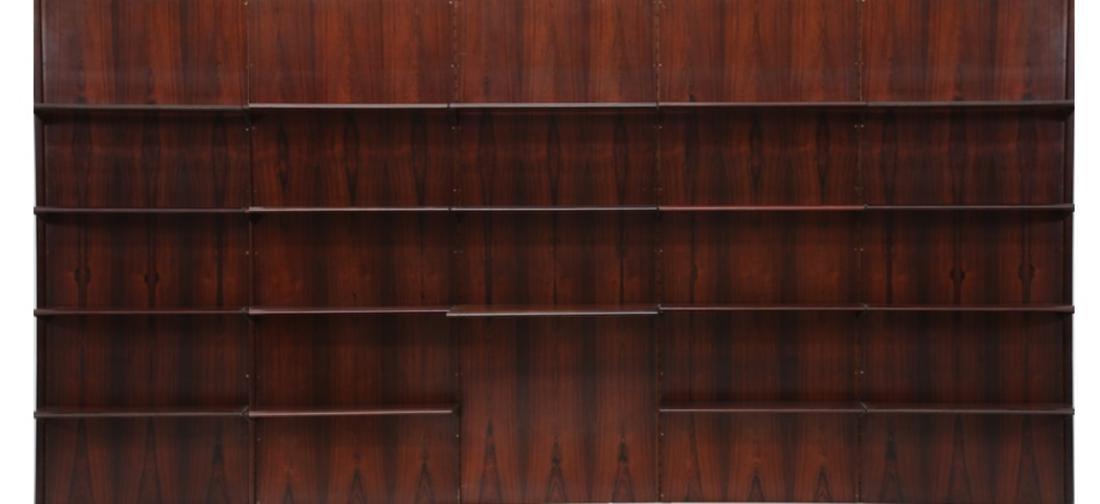 GIORGIO MADINI MORETTI Rosewood bookcase with brass