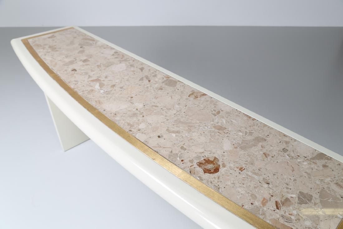 MANIFATTURA ITALIANA  Lacquered wood consolle, brass - 4