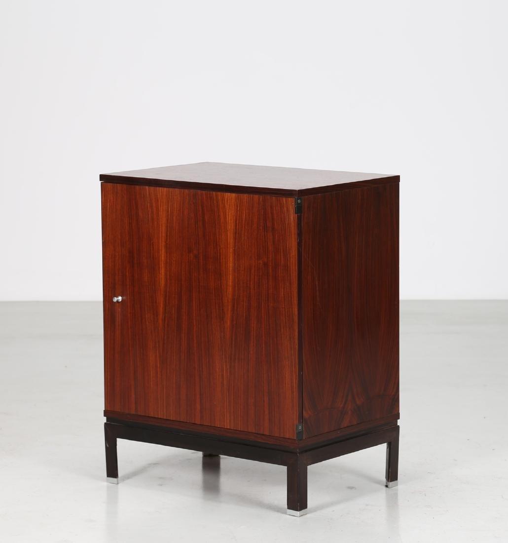 MIM  Rosewood and metal cabinet, MIM Rome, 1960s.