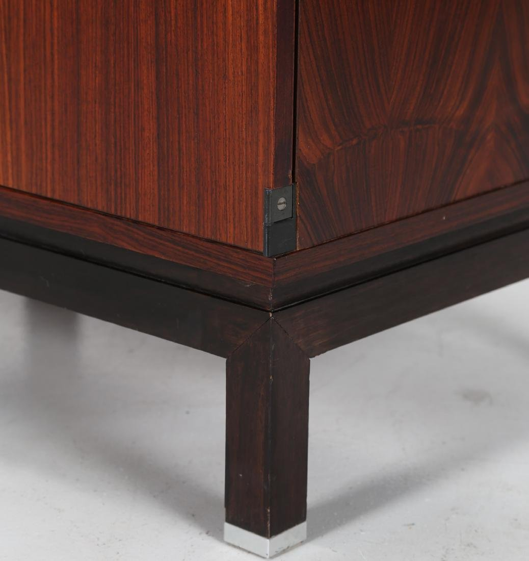 MIM  Rosewood and metal cabinet, MIM Rome, 1960s. - 2