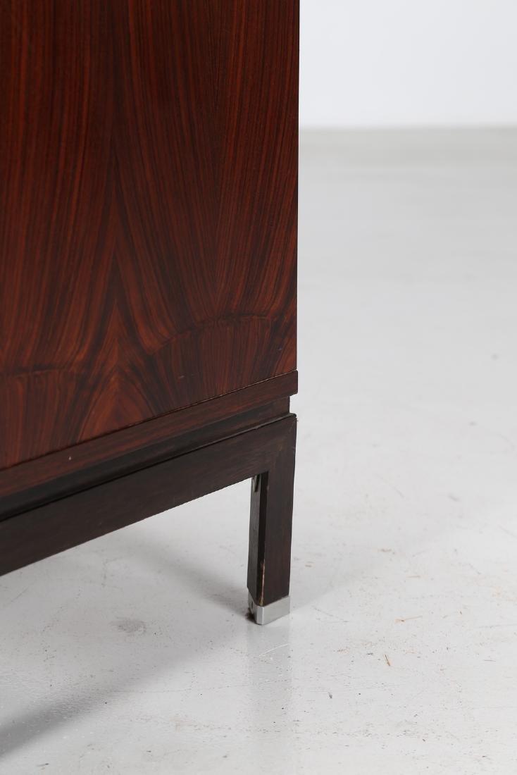 MIM  Rosewood and metal cabinet, MIM Rome, 1960s. - 3