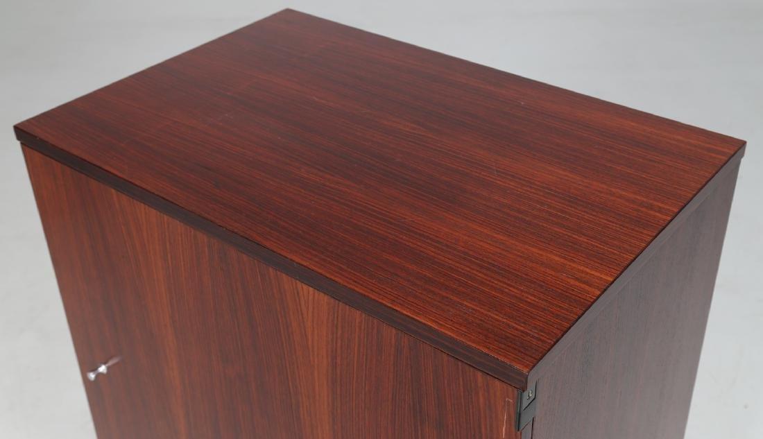 MIM  Rosewood and metal cabinet, MIM Rome, 1960s. - 4