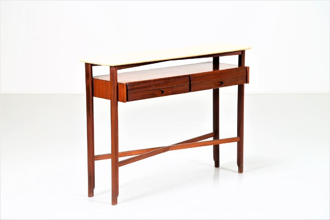 MANIFATTURA ITALIANA  Console table in wood and marble,