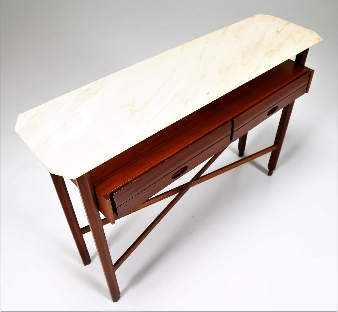 MANIFATTURA ITALIANA  Console table in wood and marble, - 5