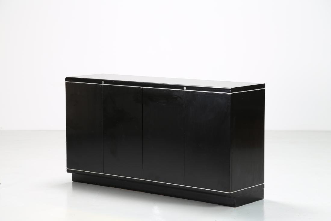 EUGENIO GERLI Lacquered wood and aluminium sideboard
