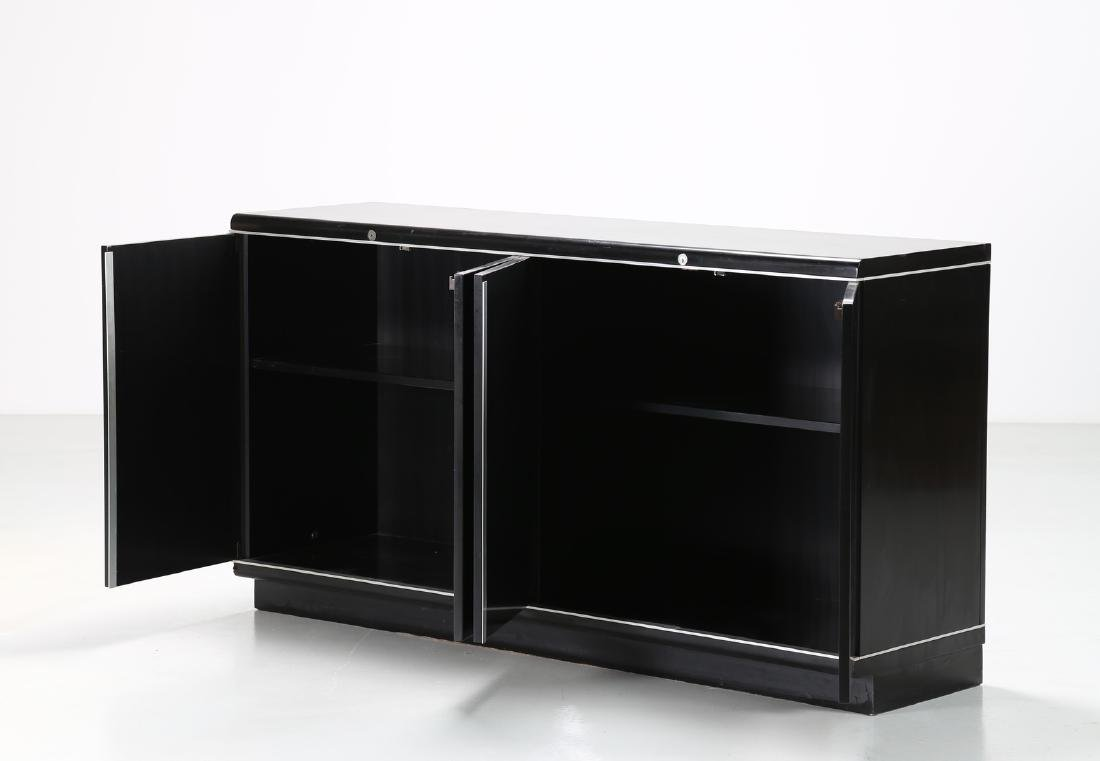 EUGENIO GERLI Lacquered wood and aluminium sideboard - 2