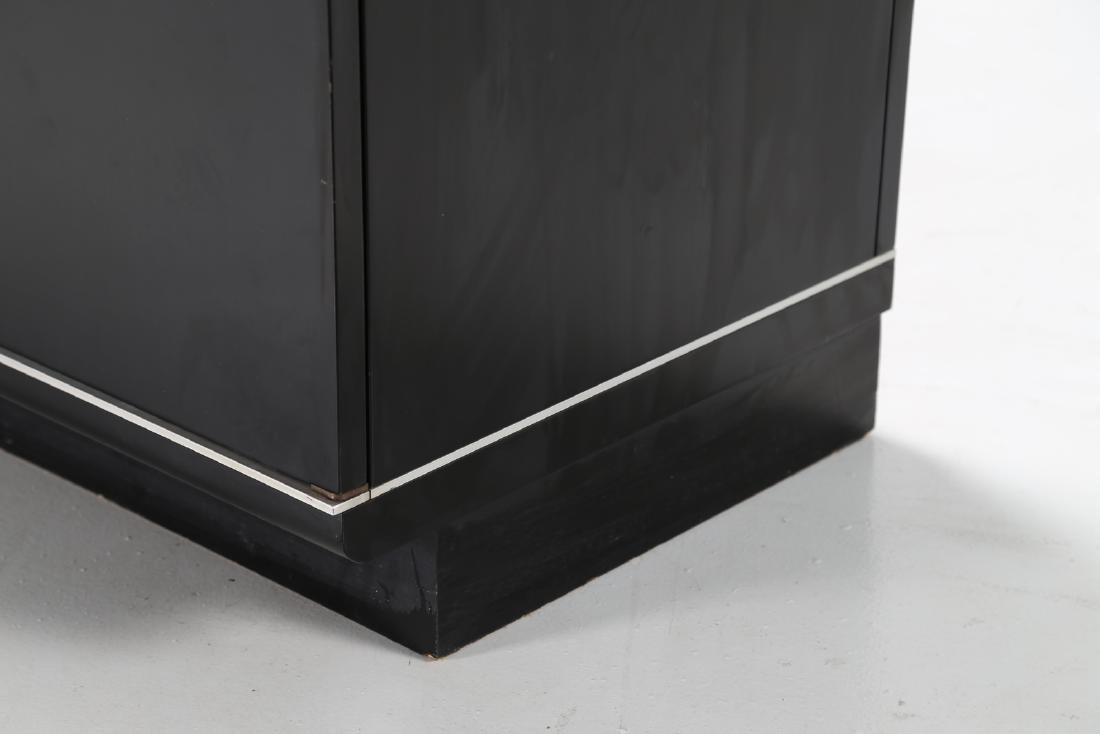 EUGENIO GERLI Lacquered wood and aluminium sideboard - 4