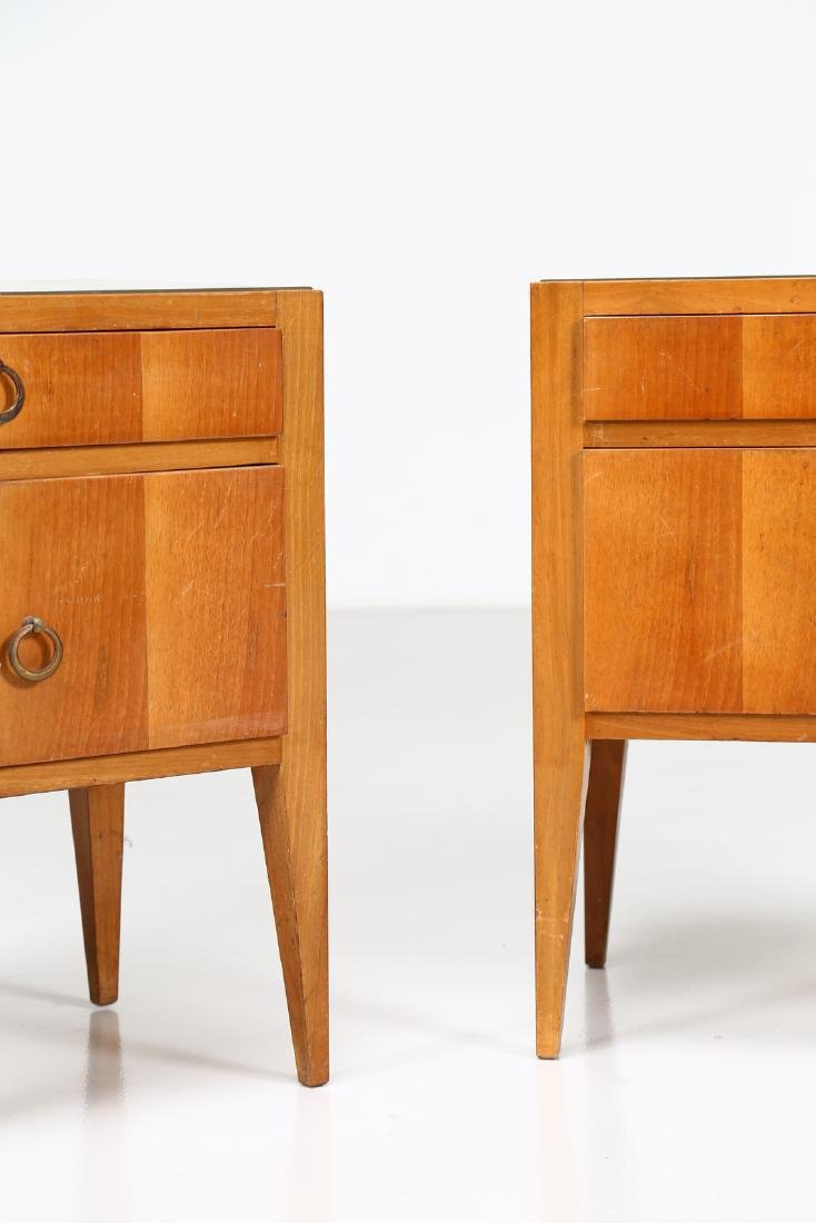 MANIFATTURA ITALIANA  Pair of wood and brass bedside - 2