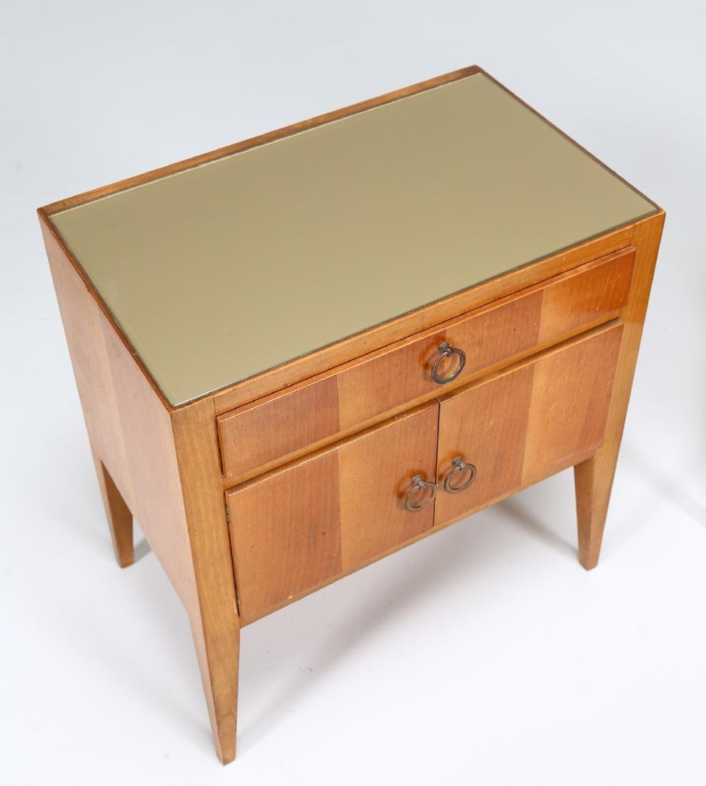 MANIFATTURA ITALIANA  Pair of wood and brass bedside - 6