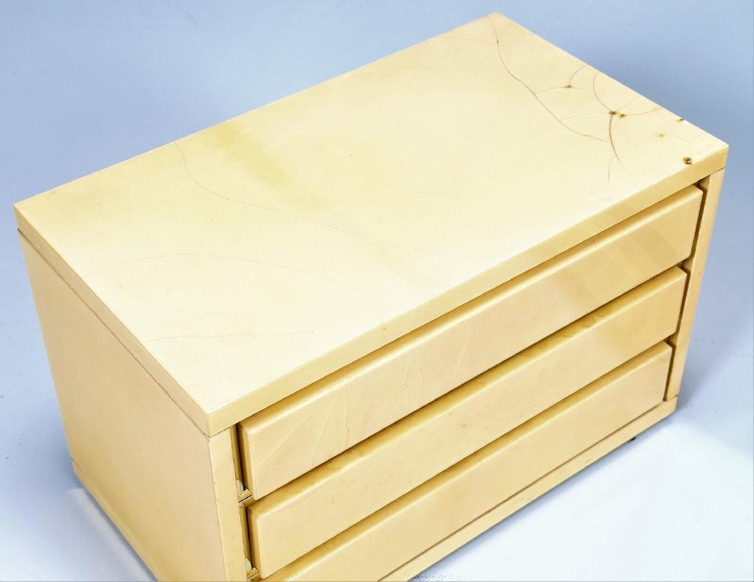 ALDO TURA Two wood and parchment chests of drawers, - 3