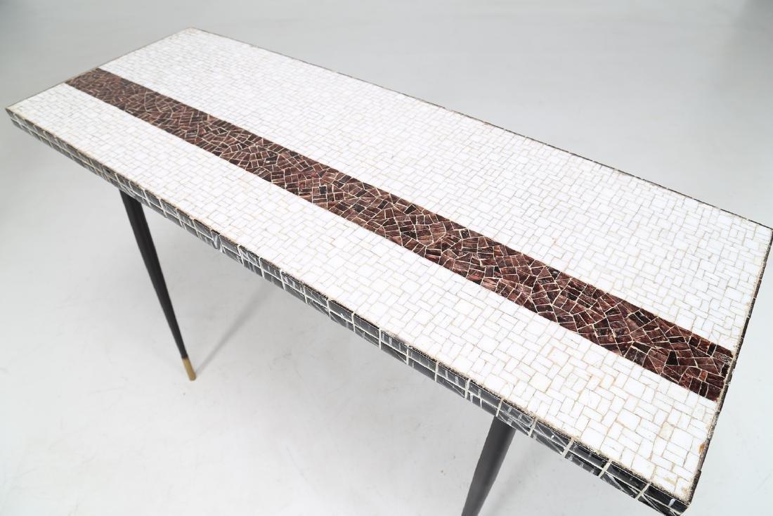 MANIFATTURA ITALIANA  Metal console table with ceramic - 4