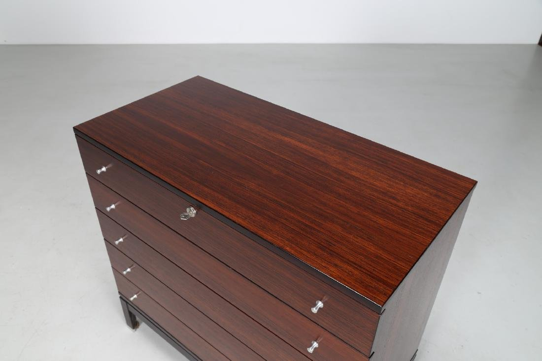 MIM  Chest of drawers in rosewood and metal, Mobili - 5
