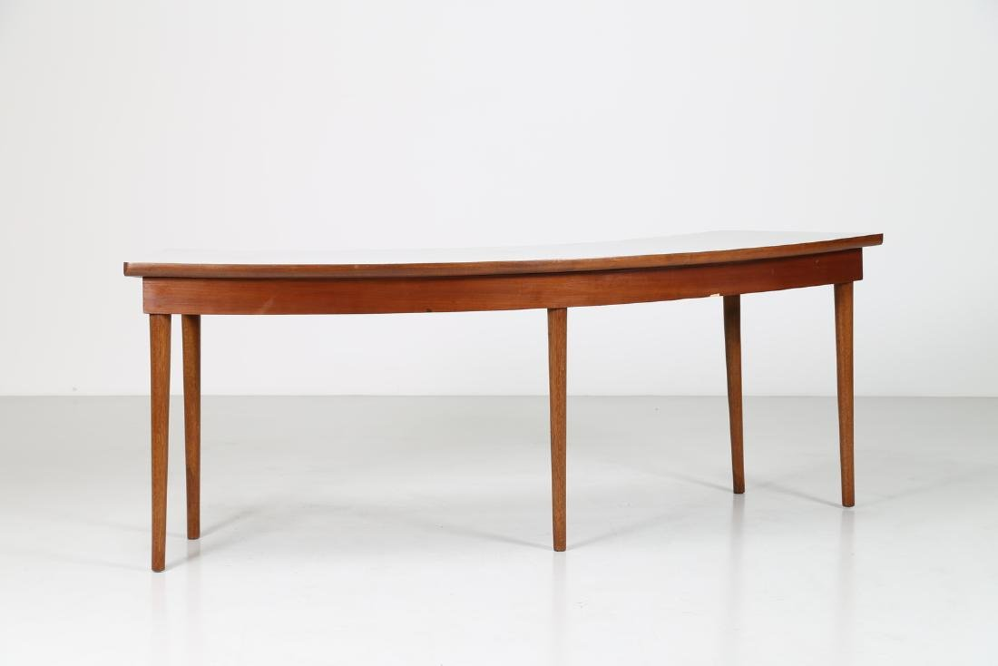 MANIFATTURA ITALIANA  Console in rosewood and teak with