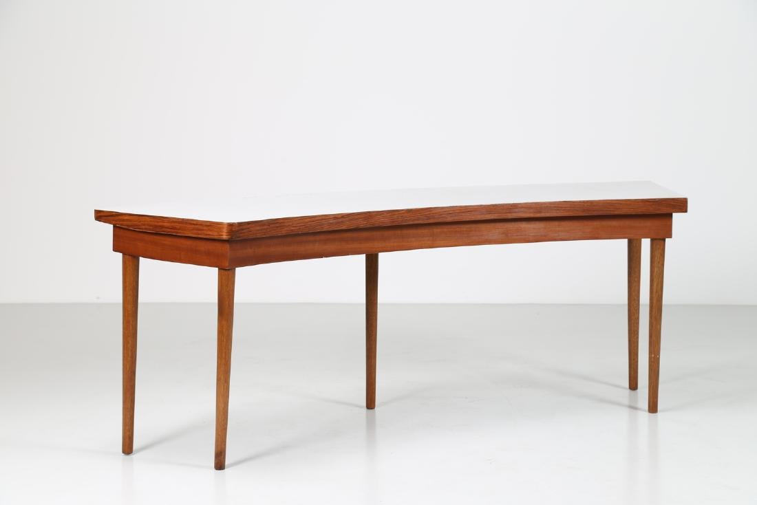 MANIFATTURA ITALIANA  Console in rosewood and teak with - 2