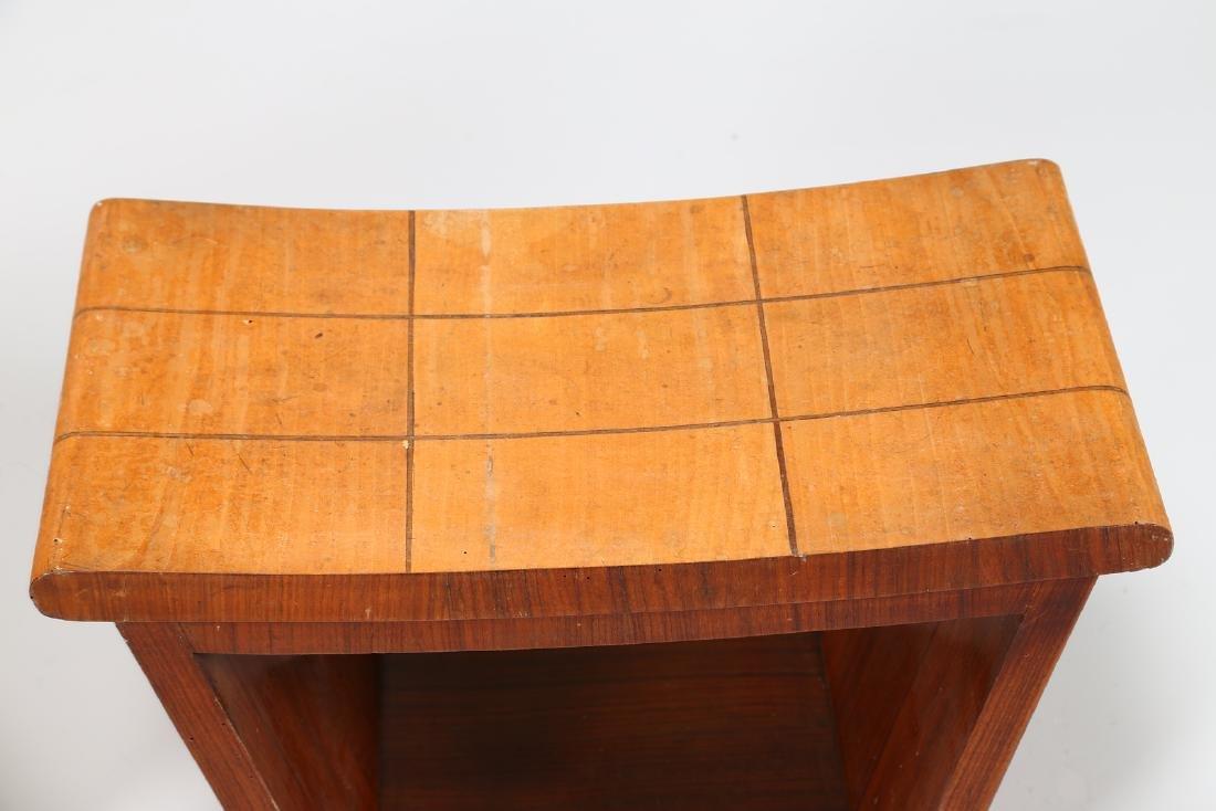 OSVALDO BORSANI Pair of inlaid wood stools, 1950s. - 5