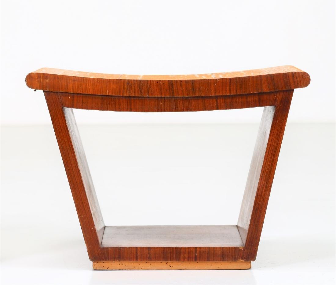 OSVALDO BORSANI Pair of inlaid wood stools, 1950s. - 6