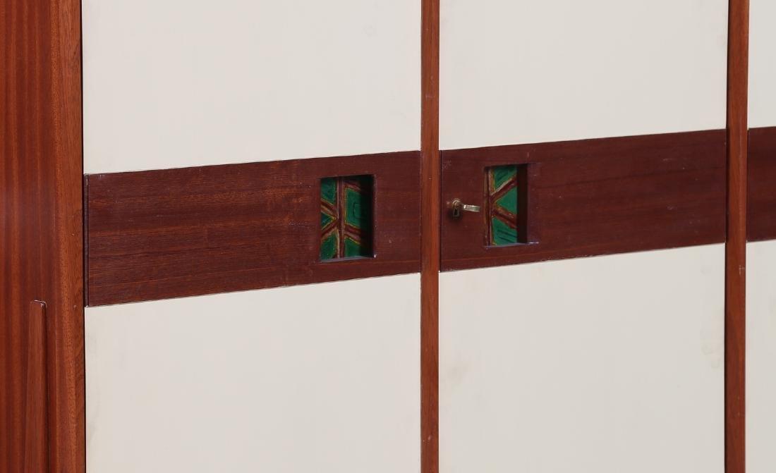 CASEY FANTIN  Mahogany and lacquered wood wardrobe, - 5