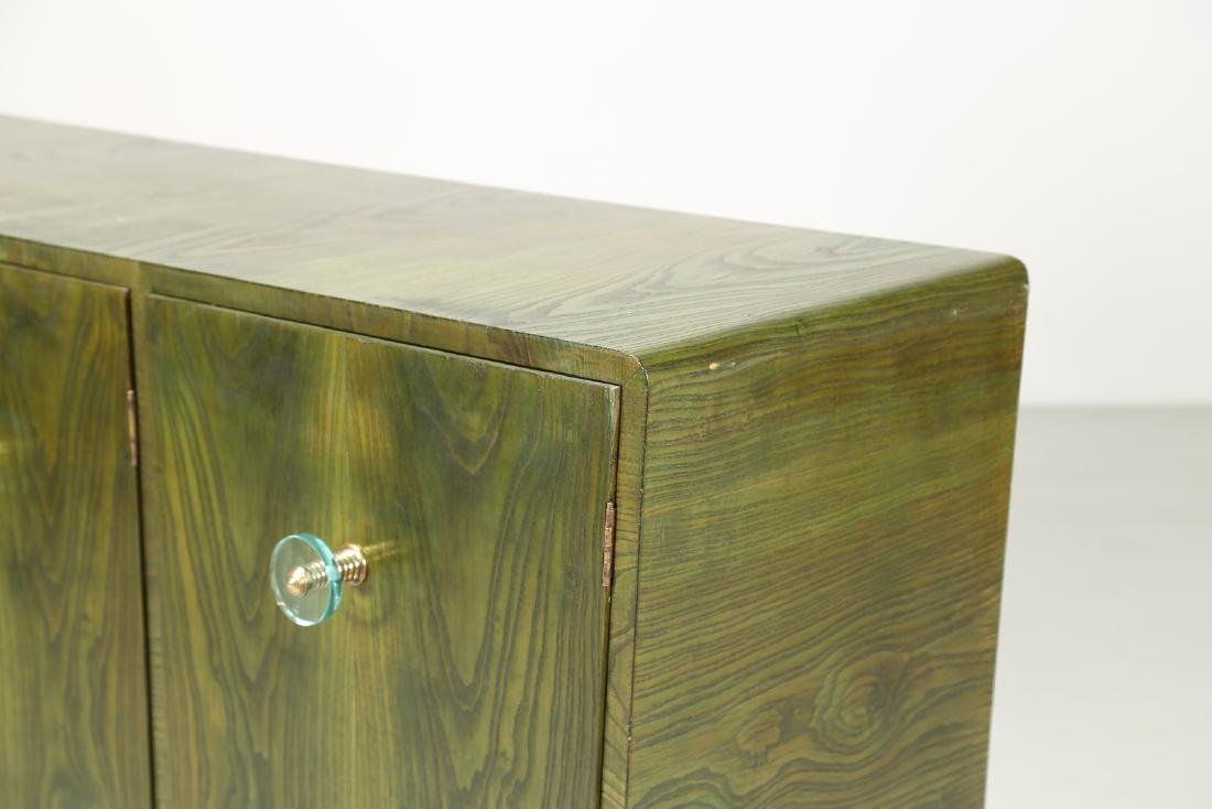 MANIFATTURA ITALIANA  Sideboard in green-stained ash - 2