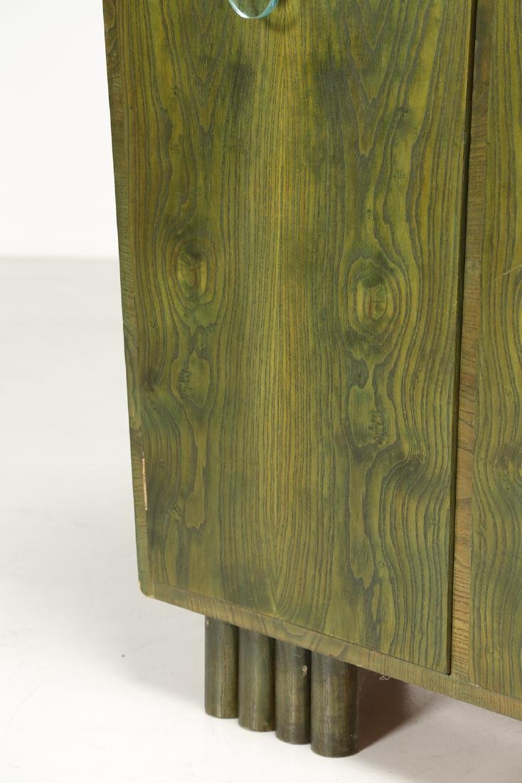 MANIFATTURA ITALIANA  Sideboard in green-stained ash - 3