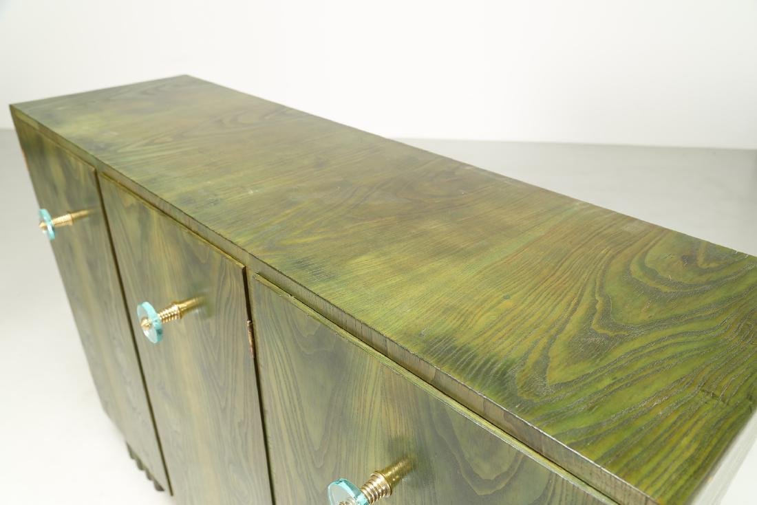 MANIFATTURA ITALIANA  Sideboard in green-stained ash - 5