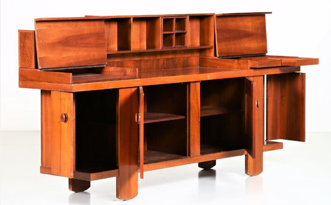 SILVIO COPPOLA Solid walnut sideboard by Bernini, 1968.