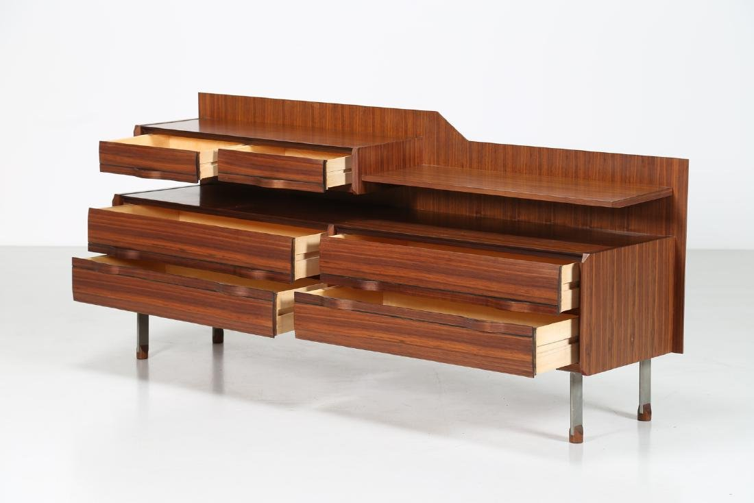 SORGENTE DEI MOBILI Sideboard in rosewood and chromed - 2