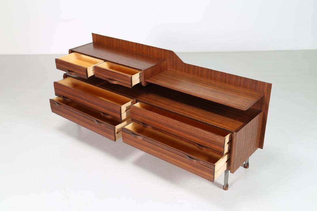 SORGENTE DEI MOBILI Sideboard in rosewood and chromed - 3