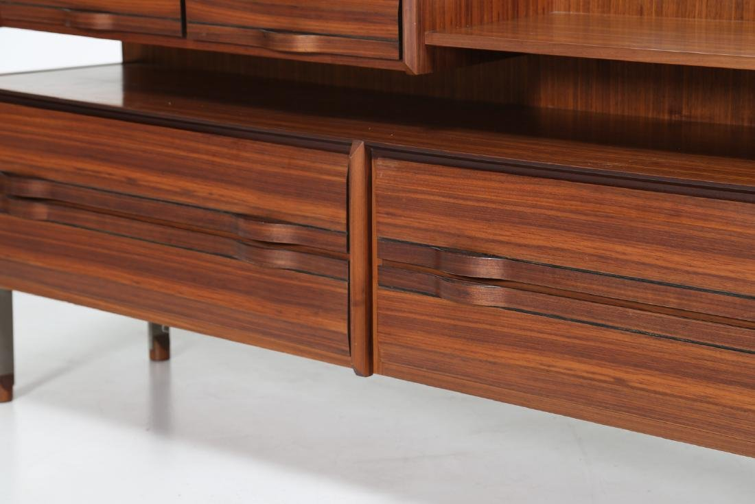 SORGENTE DEI MOBILI Sideboard in rosewood and chromed - 5