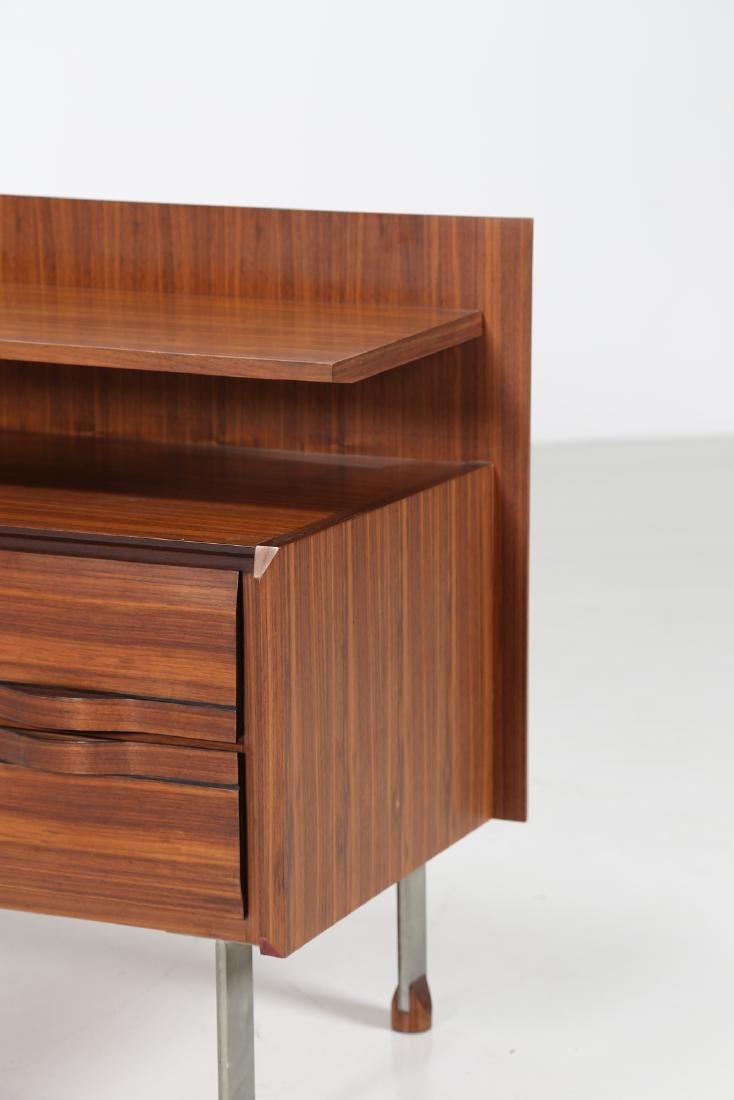 SORGENTE DEI MOBILI Sideboard in rosewood and chromed - 7