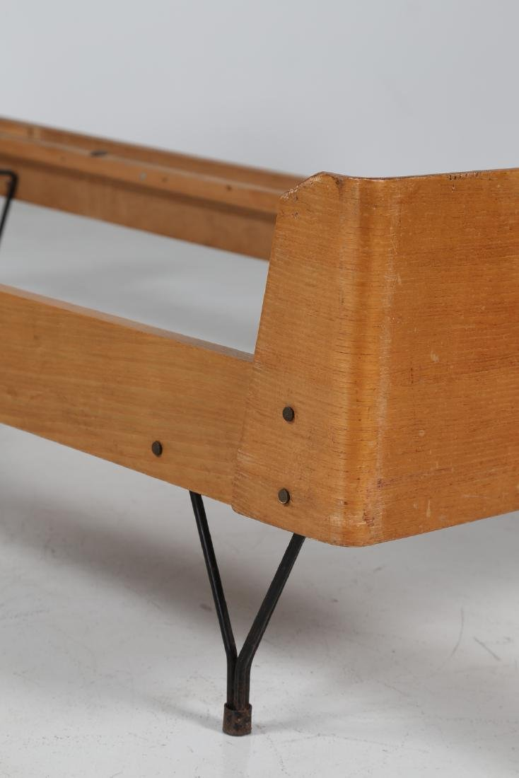RIMA  Twin beds in bent teak plywood and iron, limited - 2