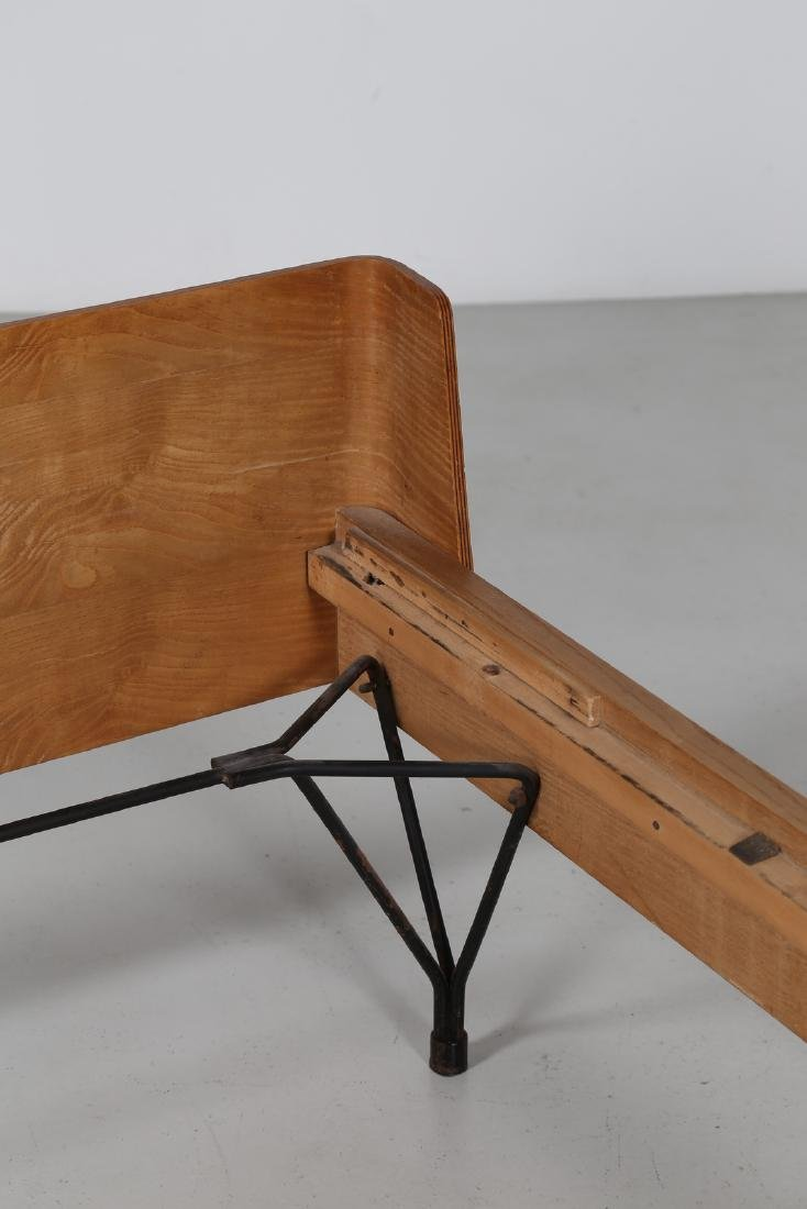 RIMA  Twin beds in bent teak plywood and iron, limited - 3