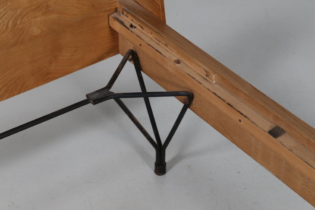 RIMA  Twin beds in bent teak plywood and iron, limited - 4