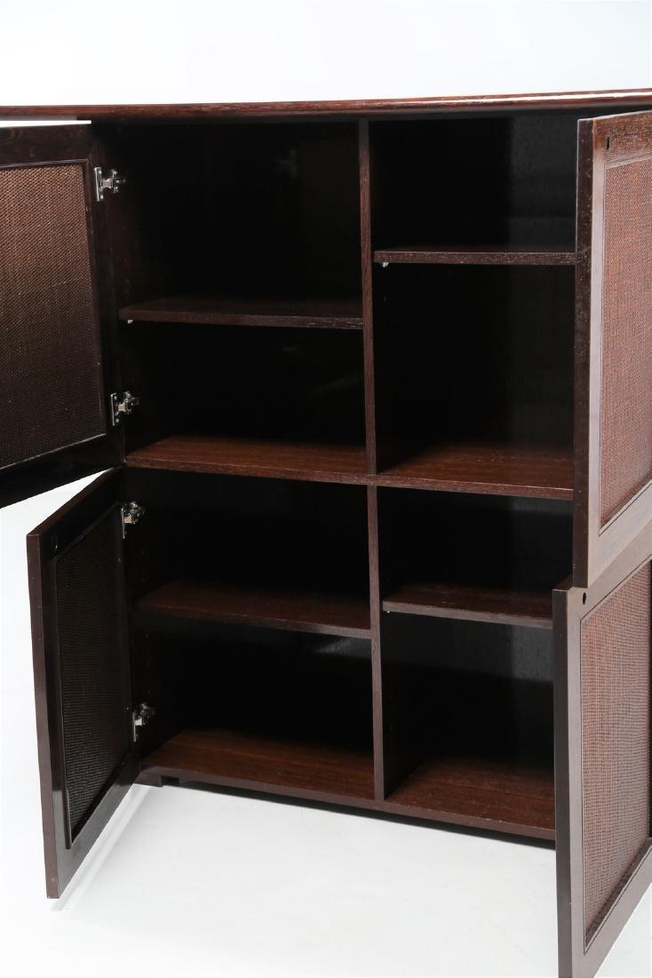 BONACINA 1889 Four-door cabinet in wenge and wicker. - 3