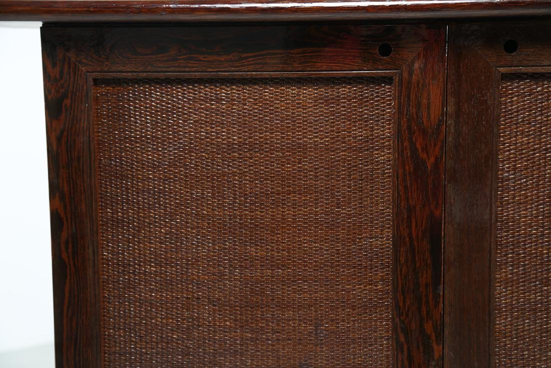BONACINA 1889 Four-door cabinet in wenge and wicker. - 4