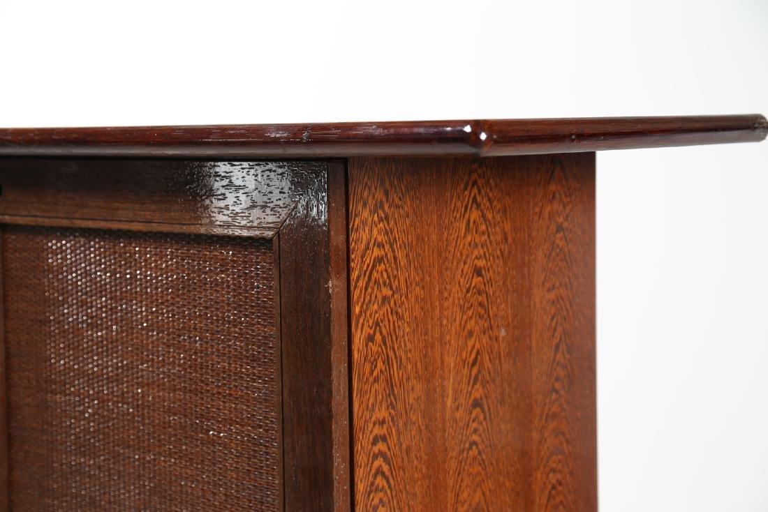 BONACINA 1889 Four-door cabinet in wenge and wicker. - 5