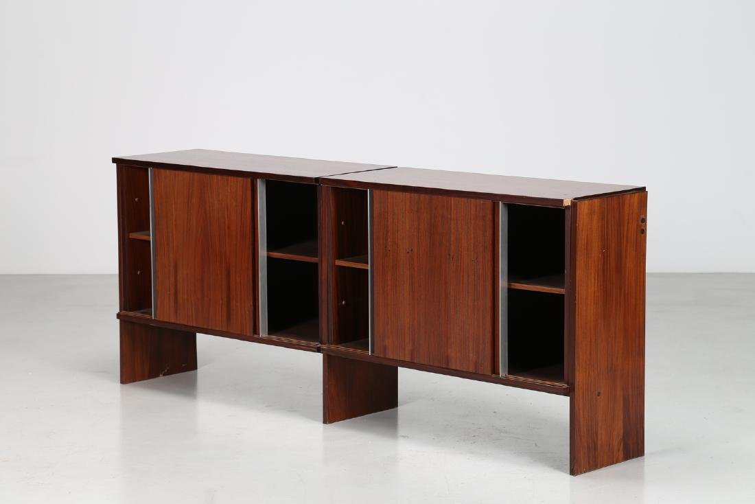 MIM  Rosewood sideboard with sliding doors, Mobili MIM - 2