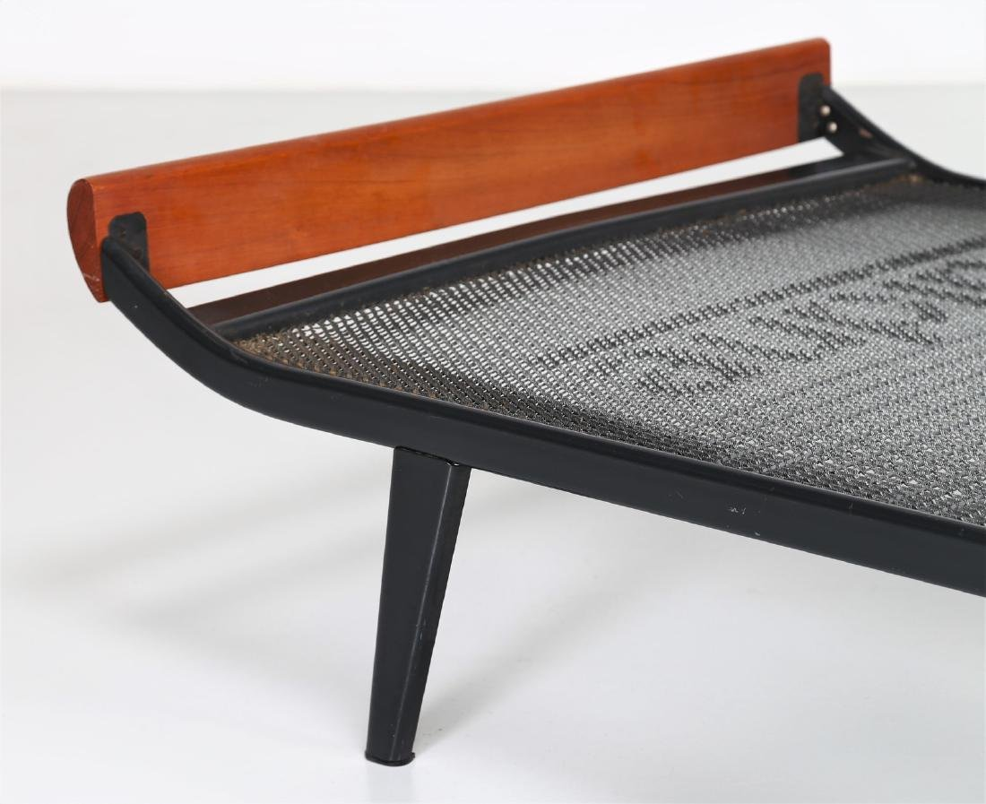 DICK  CORDEMEIJER Wood and lacquered metal bed by - 2