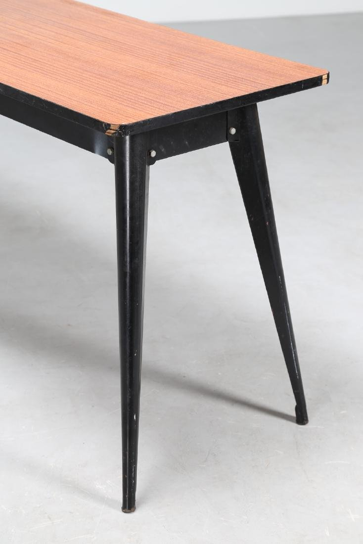 MANIFATTURA FRANCESE  Console table in lacquered metal - 4