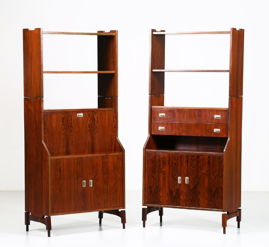 CLAUDIO SALOCCHI Pair of rosewood wall units by
