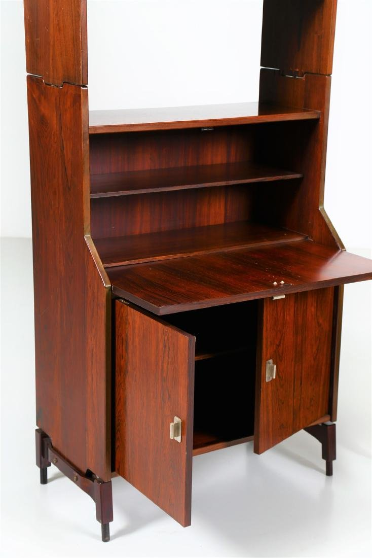 CLAUDIO SALOCCHI Pair of rosewood wall units by - 2