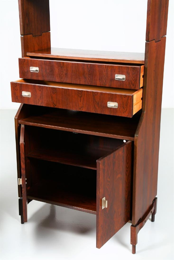 CLAUDIO SALOCCHI Pair of rosewood wall units by - 3