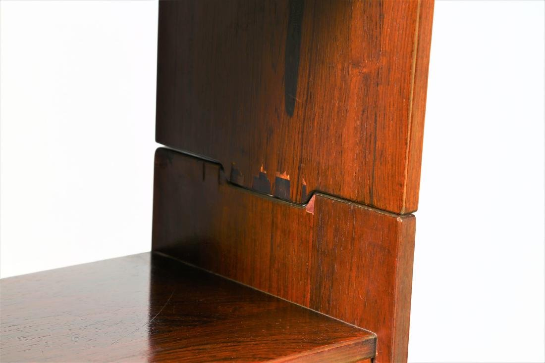 CLAUDIO SALOCCHI Pair of rosewood wall units by - 4