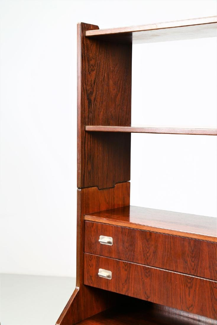 CLAUDIO SALOCCHI Pair of rosewood wall units by - 7