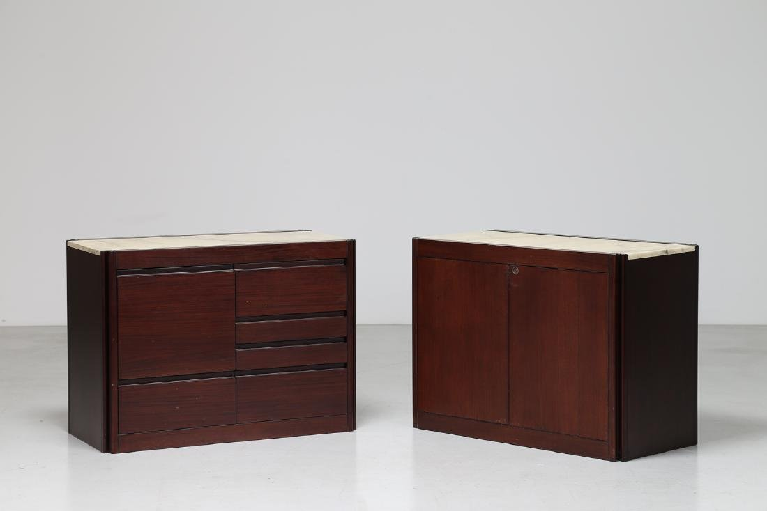 ANGELO MANGIAROTTI Pair of rosewood cupboards with