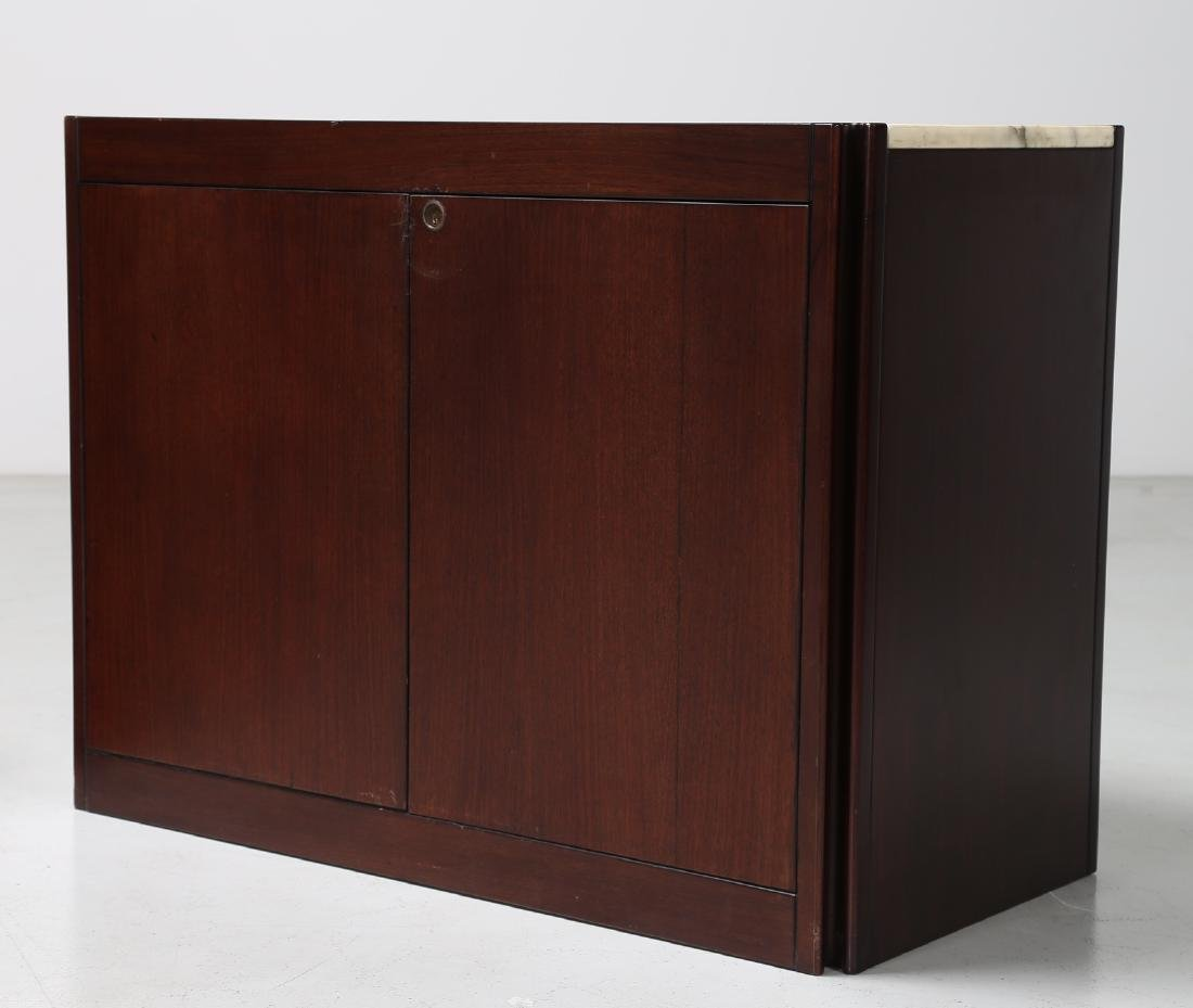 ANGELO MANGIAROTTI Pair of rosewood cupboards with - 3