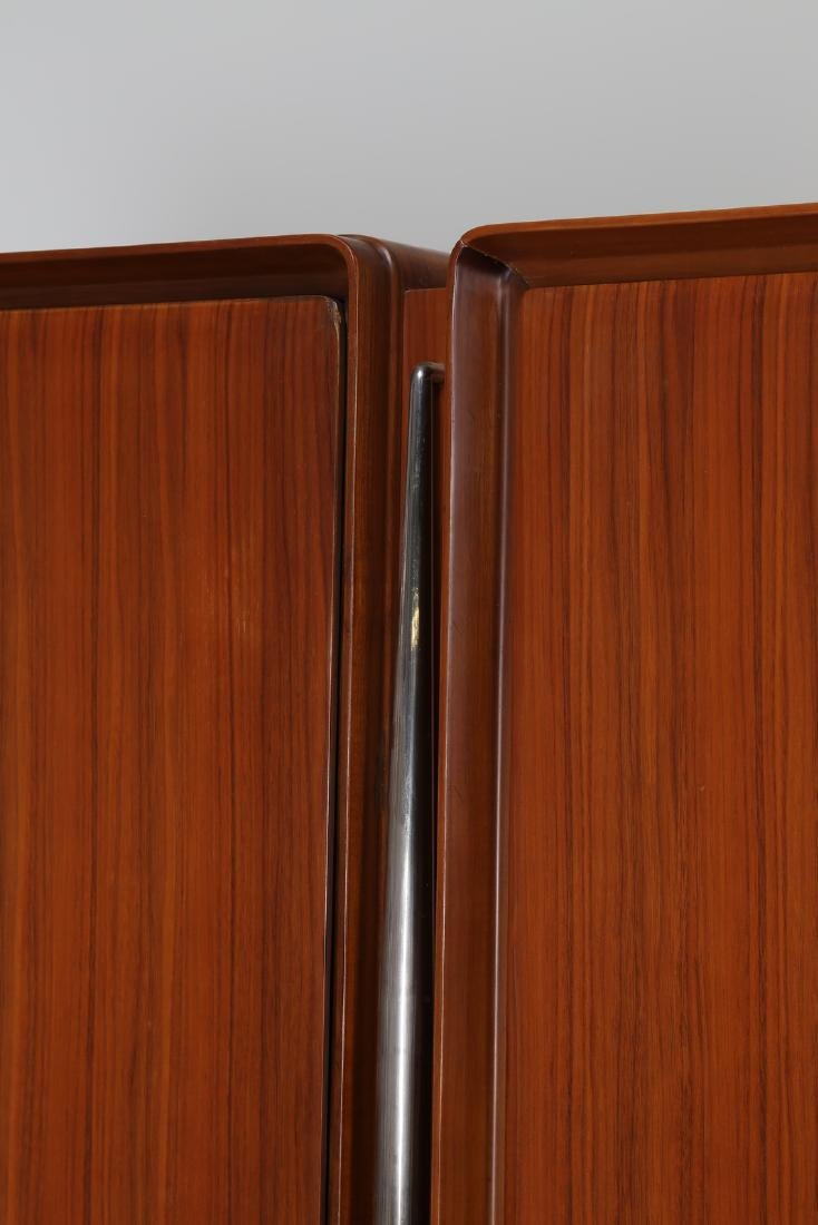 SILVIO CAVATORTA Five-door wooden wardrobe with mirrors; - 2